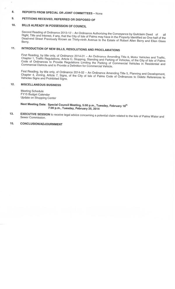 IOP council agenda pg 2 Jan 29 2014
