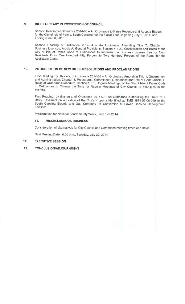 IOP council agenda 6-24-14 pg2 of 2