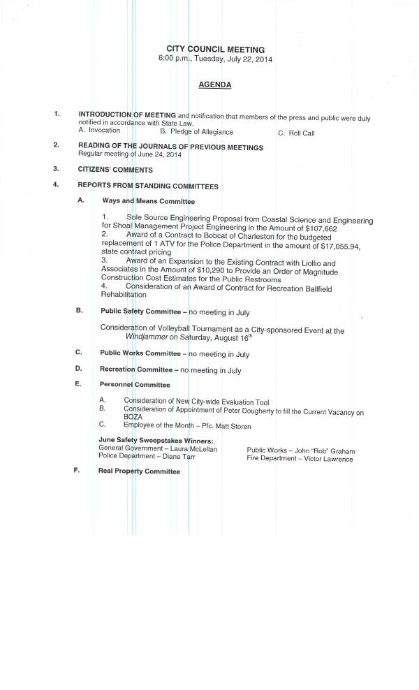 IOP Council Agenda 7-22-14 pg1 of 2