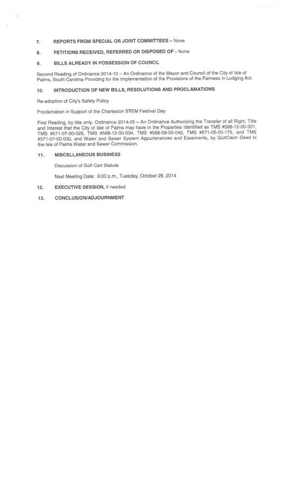 IOP council agenda sept 2014 pg 2