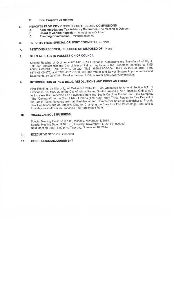 IOP council agenda Oct 28, 2014 pg2 of 2
