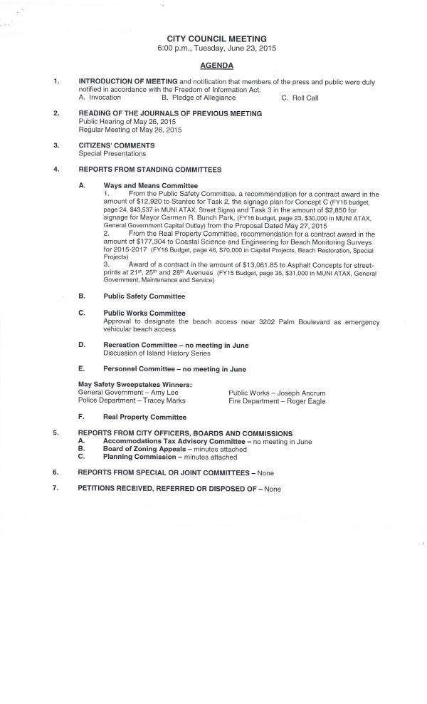 IOP City Council Agenda #3, June 23, 20150003