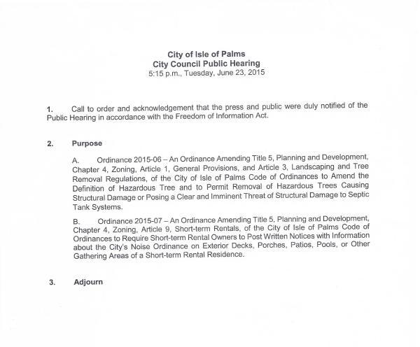 IOP Public Hearing #2, June 23, 2015