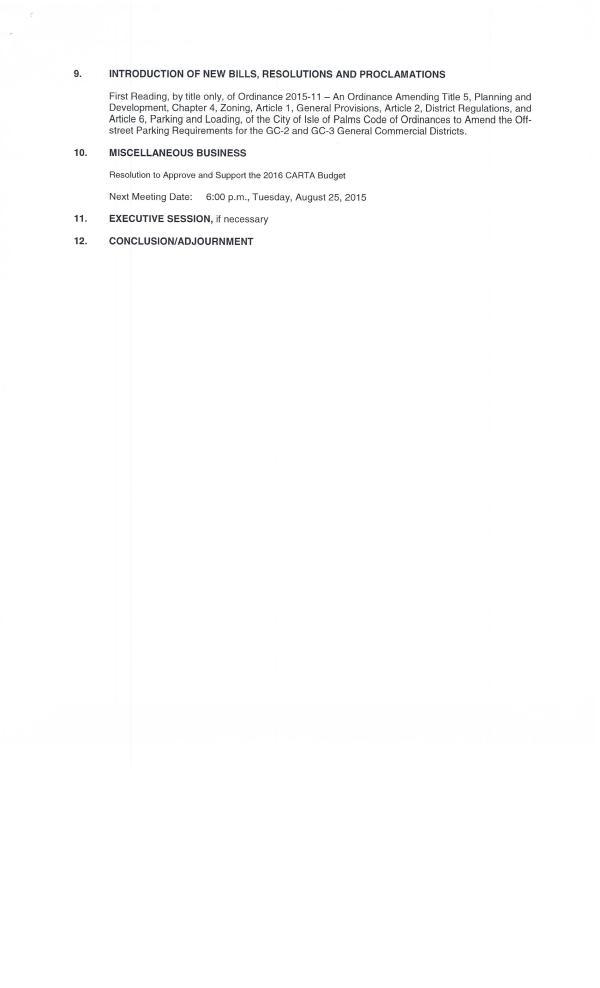IOP city council agenda July 28, 20150002