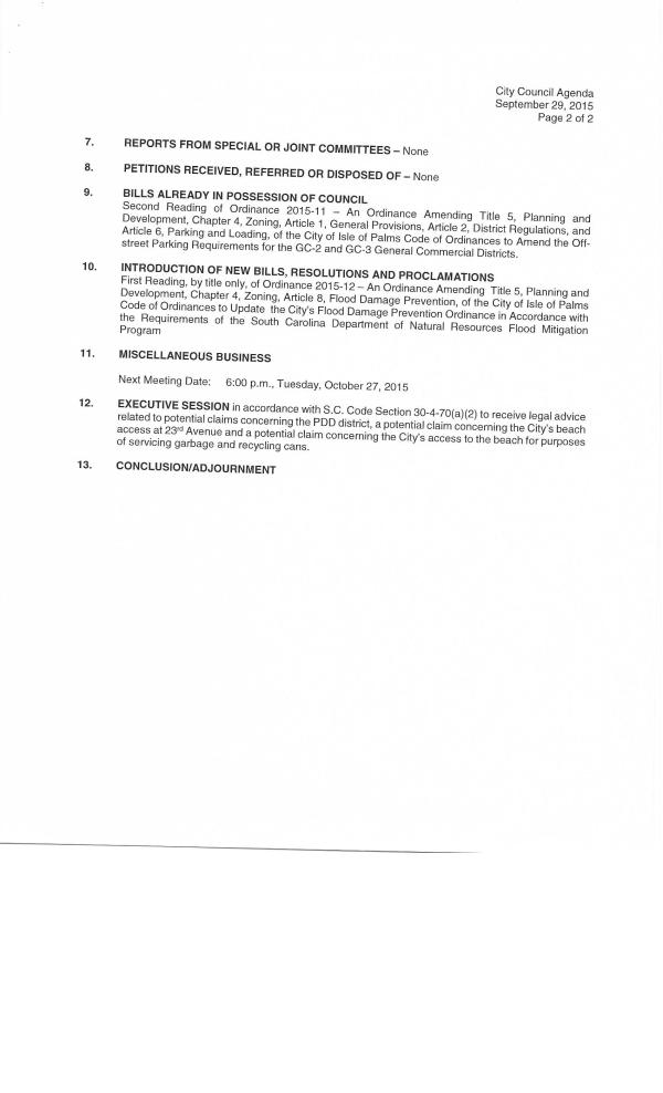 IOP city council agenda Sept 29, 20150002