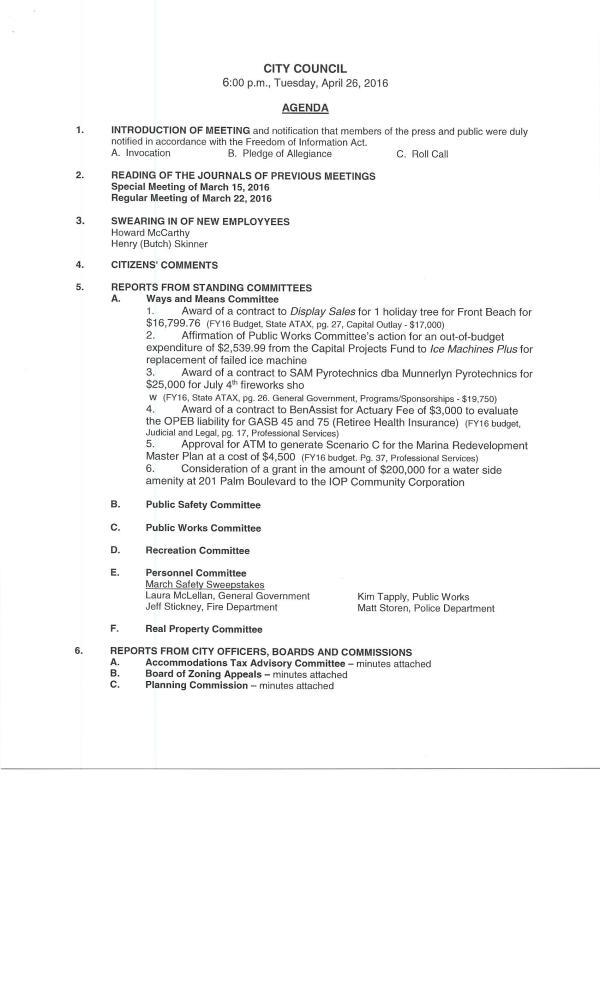 IOP council agenda 4-26-160001
