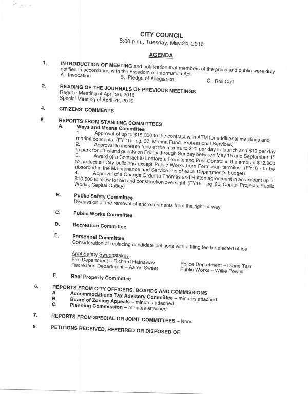IOP Council Agenda 5-24-16 pg1